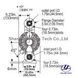 """11/2 """" Lekvrije Pomp van het Diafragma van de Plastieken van de Techniek van het Type Bidirectionele Pneumatische"""