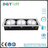 3*30W Triple cabecera ajustable foco LED Empotrables