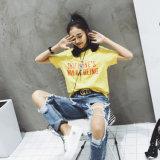 Les femmes Hot-Selling Custom Coton T-shirt imprimé