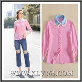 Señora Silk Pink Shirts de Fashiom