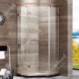 G05z21L recentemente progettano lo schermo di acquazzone d'attaccatura di Frameless di vetro di scivolamento dell'acciaio inossidabile della rotella 304