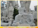 Statua di Bodhisattva di Guanyin intagliata mano di pietra