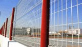 Os painéis revestidos da cerca do jardim do PVC do borne rápido