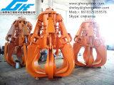 Greep van de Sinaasappelschil van de Motor van het Ruwijzer de Hydraulische in Mijn