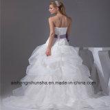 Neue Ankunfts-Hochzeits-Kleid-Spitze-Brücke A - Zeile Hochzeits-Kleid