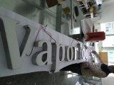 Letrero de LED Resina Superficie Espejo Cuerpo de acero Front-Lit Letters Directional Sign