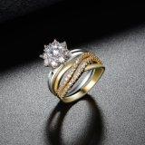 주문 입방 지르코니아 반지 여자를 위한 큰 단 하나 돌 반지 디자인