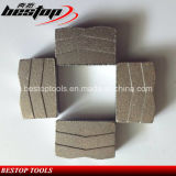 Segmentos de diamante em forma de V para lâmina de corte de granito duro