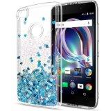 Love-Heart cintilante Caso Telefone líquido para iPhone, Moto