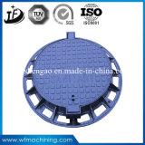 Kundenspezifischer duktiler Eisen-Gussteil-Einsteigeloch-Deckel für Entwässerung/Abfluss/Sinkkasten