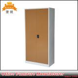 Cabinete de archivo modificado para requisitos particulares acero del metal del armario del almacenaje de fichero de 2 de oscilación estantes ajustables de las puertas 4
