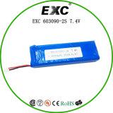 Батарея 1600mAh 7.4V полимера лития батареи 603090 серий перезаряжаемые
