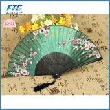 Il bambù dell'OEM Ribs il ventilatore pieghevole della mano del reticolo dei fiori di ciliegia