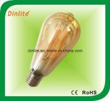 St64-4W 6 W a lâmpada de incandescência de LED de Ouro