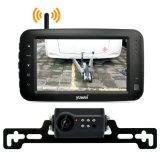 Digital inalámbrica de 2,4 Ghz, Cámara de visión trasera del coche de un kit con pantalla LED de 4,3 pulg.