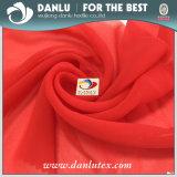 China Red Wholesaling and Retailing Chiffon Tecido para Mulheres Vestido