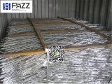 피스에 있는 용접된 면도칼 철망사