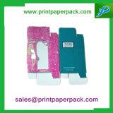 Zoll gedruckter kosmetischer verpackenpappkosmetischer Papierkasten mit Belüftung-Fenster