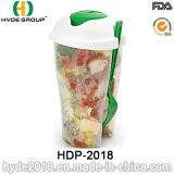 Alta Qualidade Cup Salada de plástico com garfo e Vestir Cup