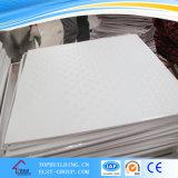 El panel de techo del yeso del PVC del azulejo 603*603*7mm/Performated del techo del yeso del azulejo/del vinilo del techo del yeso del PVC