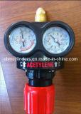 Cilindros de oxigênio 10L Refillable de alta pressão com as válvulas Cga870 do deslocamento predeterminado do Pin