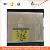 Collant adhésif imperméable à l'eau cosmétique de papier d'imprimerie d'étiquette de PE de bouteille d'imprimante