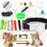 Ipx7는 다기능 Tk911를 가진 소형 애완 동물 휴대용 GPS 추적자를 방수 처리한다