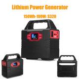 Generatore portatile di energia solare della batteria di litio con Ce/RoHS/FCC 100W