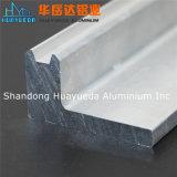 Perfil de aluminio natural para la bisagra de puerta de la ventana