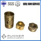 Cnc-Ausschnitt-Maschinen-Präzisions-maschinell bearbeitendrechselndes drehenprägeteil für pneumatischen Zylinder