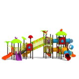 Parque Infantil exterior de plástico para crianças e crianças (JYG-15004)