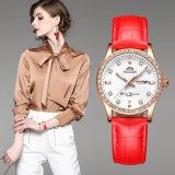 Douane/In het groot Manier het Polshorloge van Dame Diamonds Dress Watch Luminous Vrouwen met Datum