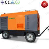 Gran Etapa de Servicio Pesado dos móviles portátiles de doble tornillo Diesel compresor de aire del tipo de proveedor