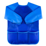 OEMによってカスタマイズされるポリエステル防水子供の絵画ベーキング挿入のエプロンスモックの胸当ての製造業者