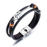 Fashion Accessoires Heren lederen armband Heren Guitar Armband Multi-Layer Woven Armband Lederen koord om vriend te sturen