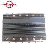 De mano de 12 canales Personalizar Mobile GPS ++WiFi+UHF/VHF Jammer Teléfono móvil / inhibidor, teléfono móvil+WiFi Jammer+GPS/Blocker inhibidor/.