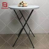 High Bar Tabouret Table ronde Table pliante en plastique blanc