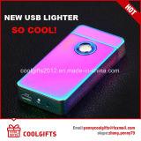 Лихтер ИМПа ульс дуги цветастой сигареты поручая более светлый электрический x USB двойной
