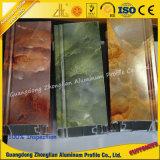 Perfil de extrusão de alumínio de grão de mármore para moldura de janela