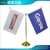 2 support de base d'or en plastique décoratifs drapeaux de bureau (J-NF09P04016)