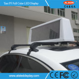 Taxi Top P5 Outdoor Full Color Waterproof LED Screen Sign