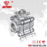 válvula de esfera rosqueada do aço 304 316 3PC inoxidável (Q11F)