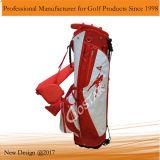 أبيض وحمراء نيلون لعبة غولف حامل قفص حقيبة