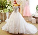 2017 van Kleding Rfl1701 van het Huwelijk van de Trein van Prom van de Avond van de Schouder de Bruids