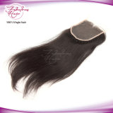 Prix ​​promotionnel brésilien Straight Hand-Tied Lace Hair Closure
