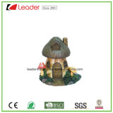 Estátua pintada mão do cogumelo de Polyresin para os ornamento Home da decoração e do jardim