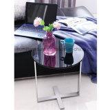 Tavolino da salotto della mobilia dell'acciaio inossidabile con la parte superiore di vetro
