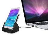 건전지 Samsung 은하 주 4를 위한 탁상용 충전기 수화기대 선창