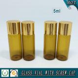 fiale di vetro della bottiglia di vetro 5ml dell'olio essenziale dell'ambra 5ml
