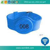 Wristband modificado para requisitos particulares del silicón de Sli NFC RFID del código de I para el control de acceso